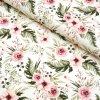 teplákovina růžové květy