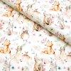 teplákovina Lesní zvířátka na bílé