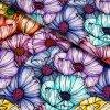 teplákovina velké barevné květy
