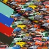 5557 3 teplakovina barevna auta