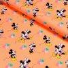úplet Mickey a Minnie na světle oranžové