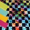 6019 4 teplakovina barevne kosticky s hvezdickama