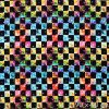 6019 5 teplakovina barevne kosticky s hvezdickama