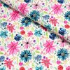 6220 teplakovina ruzovo modre kvety na svetle
