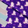 teplákovina Jednorožec na fialové