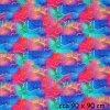 teplákovina Rozpité barvy - růžovomodré