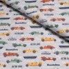 100% bavlněný úplet Retro cars