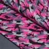 Zimní softshell s fleecem - růžový maskáč