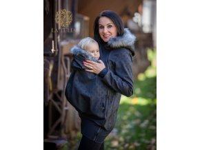 La Tulia babywearing jacket nosící bunda s kožešinou