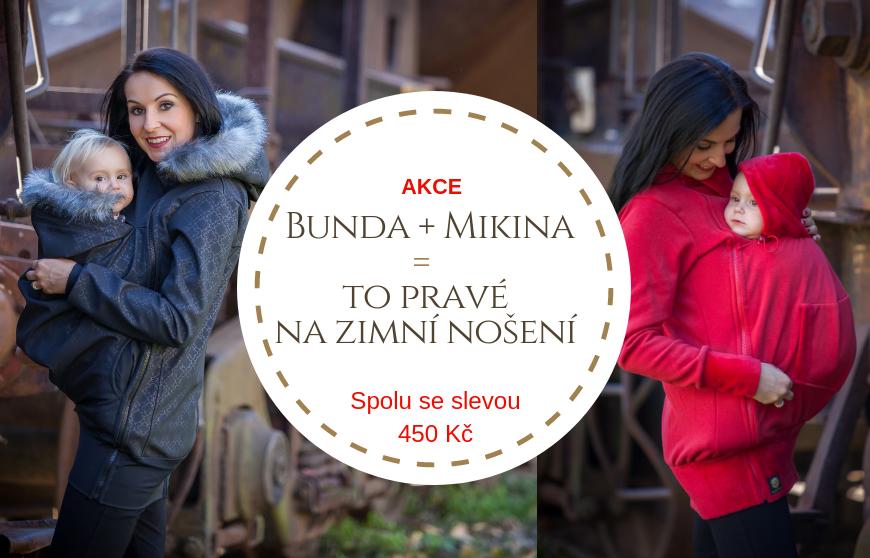 AKCE - Nosící bunda + hřejivá mikina = Sleva 450 Kč