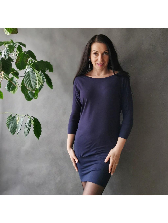 Oversize šaty Tmavě modré