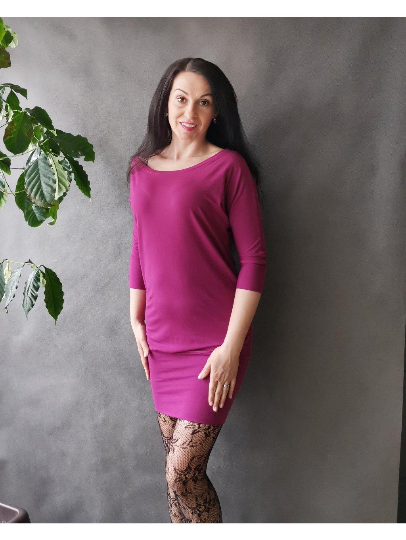 Oversize šaty Tmavě fuchsiové