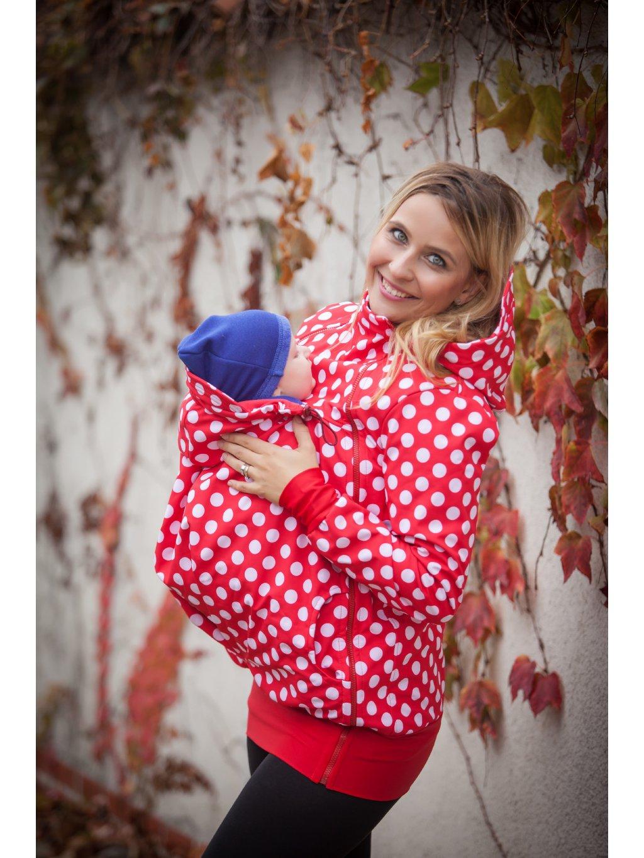www.latulia.com babywearing jacket Polka dots on red (3)