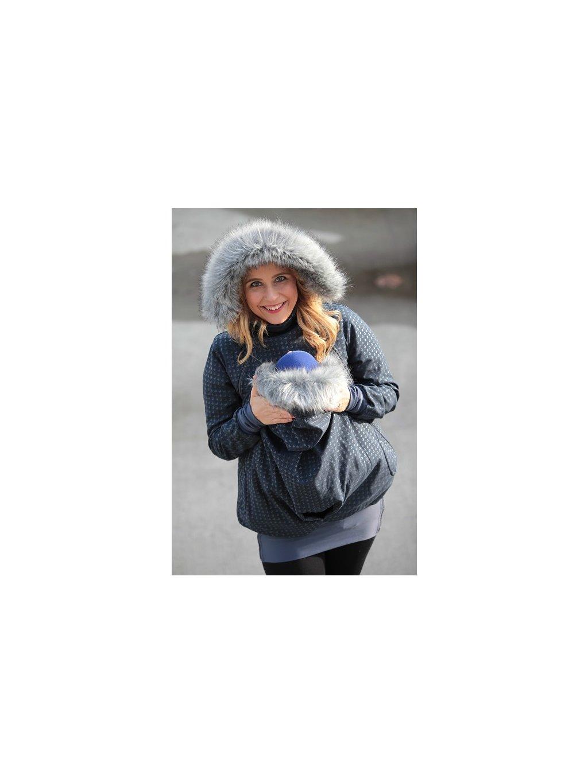 La Tulia nosící bunda bunda pro nošení dětí Silver Blue (9)