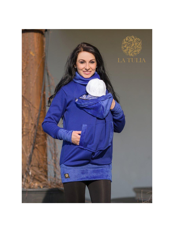 La Tulia nosící mikina babywearing hoodie sapphire blue