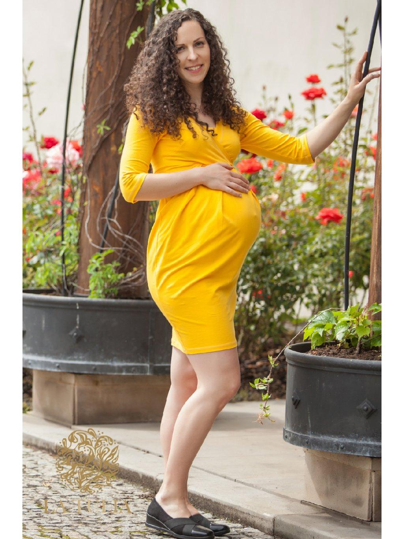 www.LaTulia.cz tehotesnké a kojící šaty Sunflower