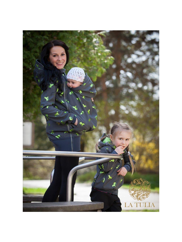La Tulia děstká softshellová bunda pro nošení Jako máma (2)
