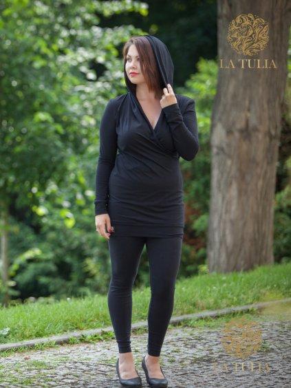 La Tulia mikinové šaty Café noir (3)