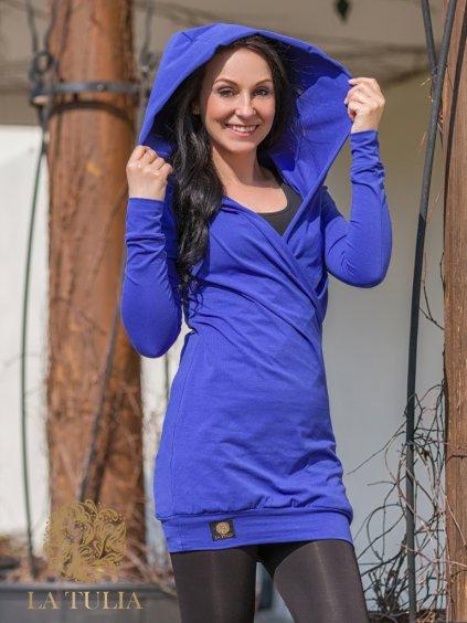La Tulia mikinové šaty chrpové