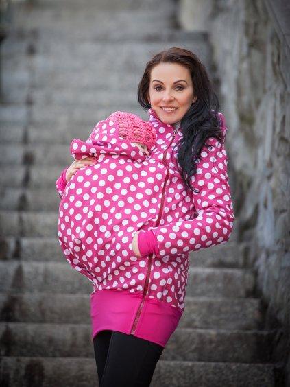 LaTulia nosící bunda dámská bunda malinová