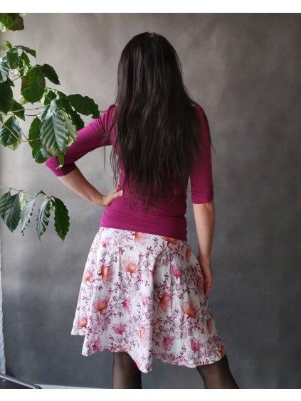 Půlkolová sukně s kapsami La Tulia (1)
