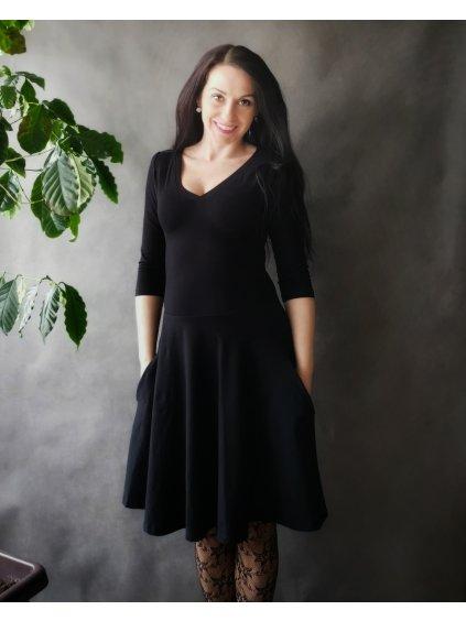La Tulia černé šaty s kapsami (3)