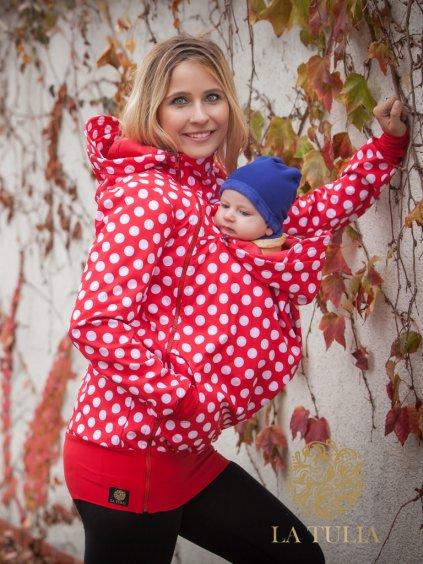 La Tulia® nosící bunda puntíky na červené (1)