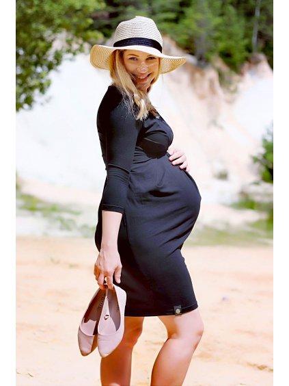 Těhotenské a kojící šaty Café Noir