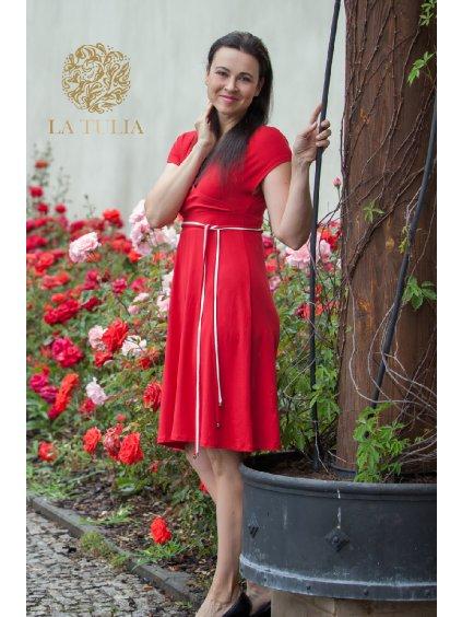 www.LaTulia.cz těhotenské letní šaty červené (3)