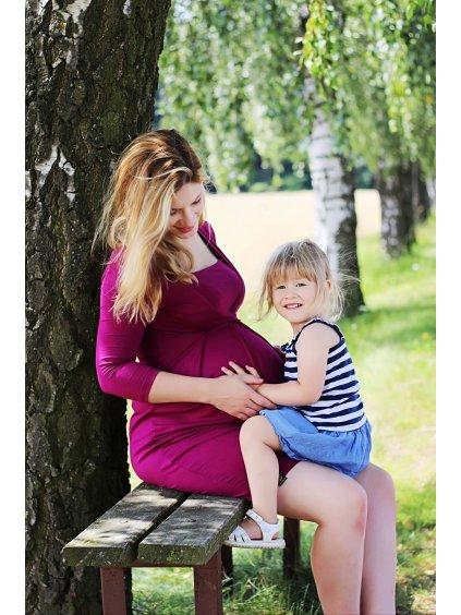 Těhotenské a kojicí šaty Brusinkové