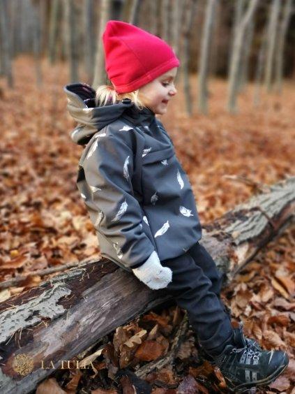La Tulia softshellová bunda dětská černá (1)