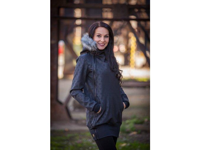 La Tulia glamour nosící bundy dámské elegantní bundy nosící bunda s kožíškem (2)