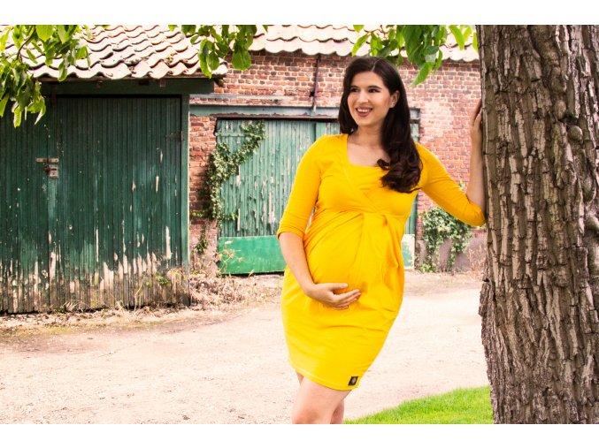 La Tulia těhotenské a kojící šaty Sunflower (5)