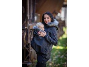 La Tulia glamour nosící bundy dámské elegantní bundy nosící bunda s kožíškem (5)