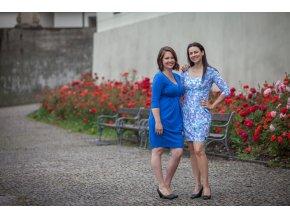 La Tulia těhotenské a kojící šaty maternity dress Café Noir elegantní šaty se sklady (4)