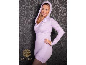 La Tulia mikinové šaty lavender (1)