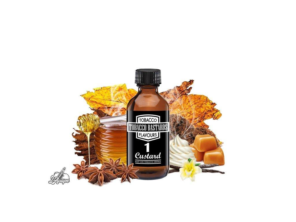 Příchuť 10ml aroma Flavormonks Tobacco Bastards No. 01 Custard - lavape.cz