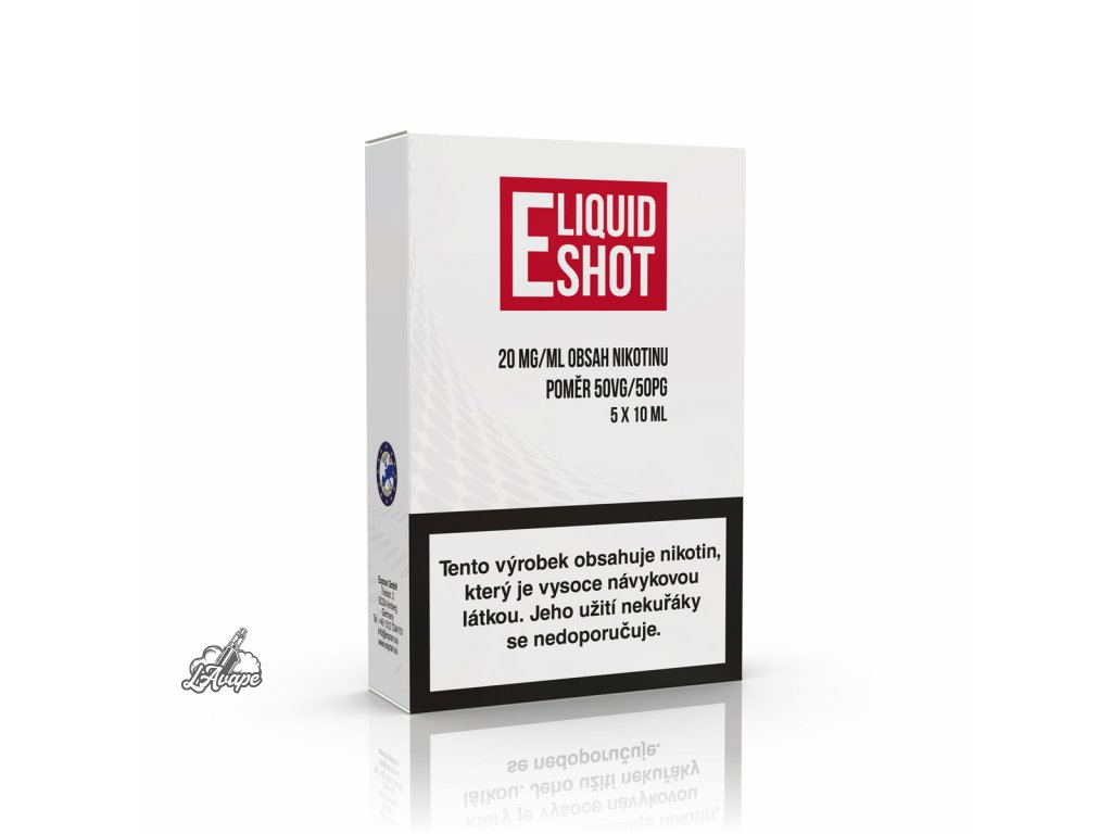 E-Liquid Shot Booster 20mg 5pack 50/50 - booster 20mg. lavape.cz
