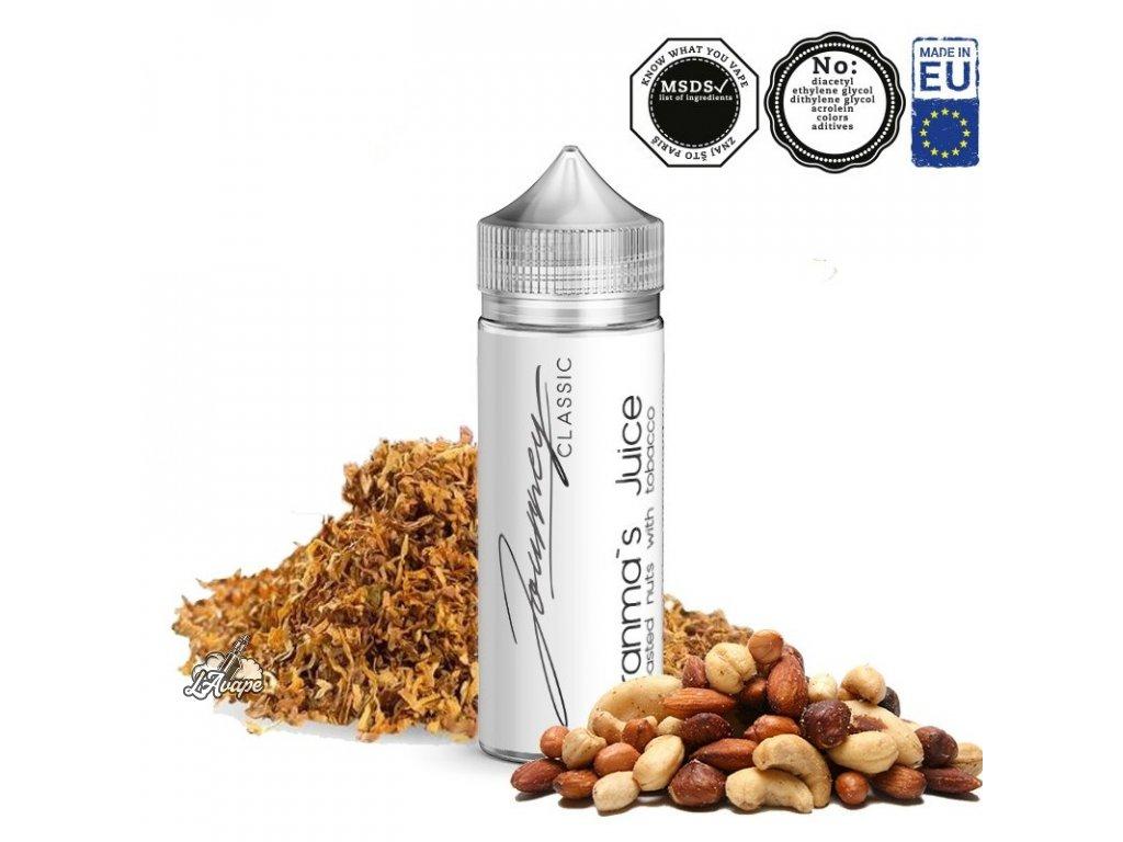 Příchuť 24ml v 120ml lahvičce - AEON Journey Classic Granmas Juice. Profil: Aromatický tabák, oříšky. lavape.cz