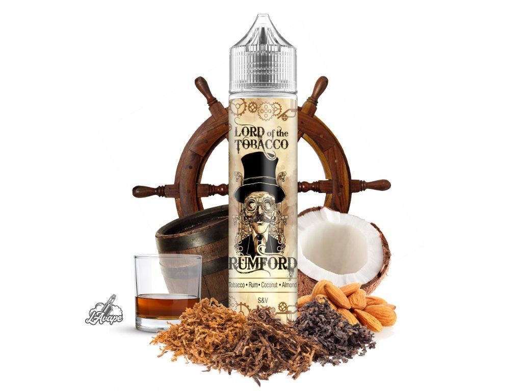 Lord Of The Tobacco - Rumford SnV 12 ml v 60 ml lahvičce. Dýmkový tabák, rum, mandle, kokos - lavape.cz