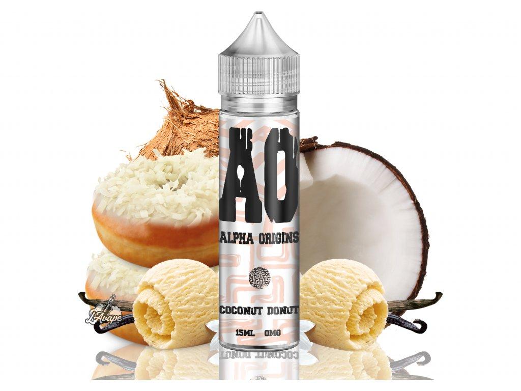 Alpha Origins Coconut Donut SnV 15 ml v 60 ml lahvičce. krémový donut s kokosem - lavape.cz