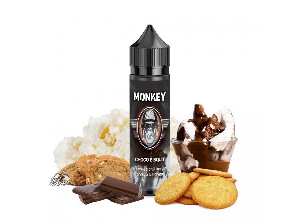 Příchuť SNV 12 ml v 60 ml lahvičce - Monkey Liquid Choco Bisquit - máslová sušenka, oříšková čokoláda, tvaroh. lavape.cz
