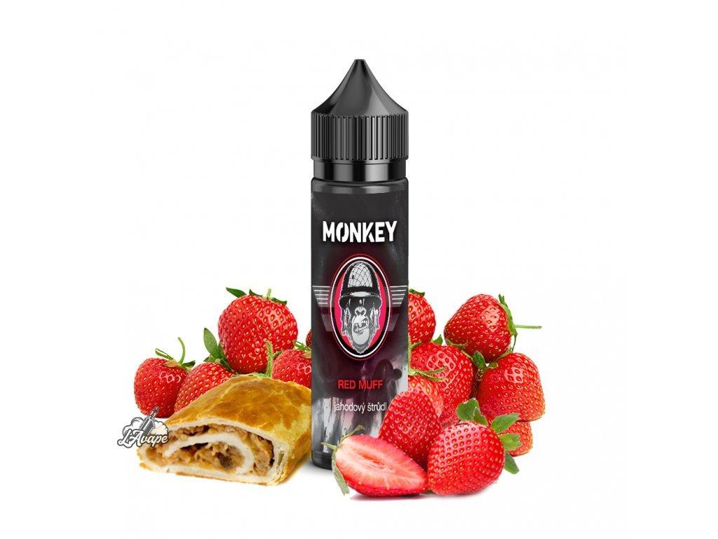 Příchuť SNV 12 ml v 60 ml lahvičce - Monkey Liquid Red Muff - jahodový štrůdl. lavape.cz