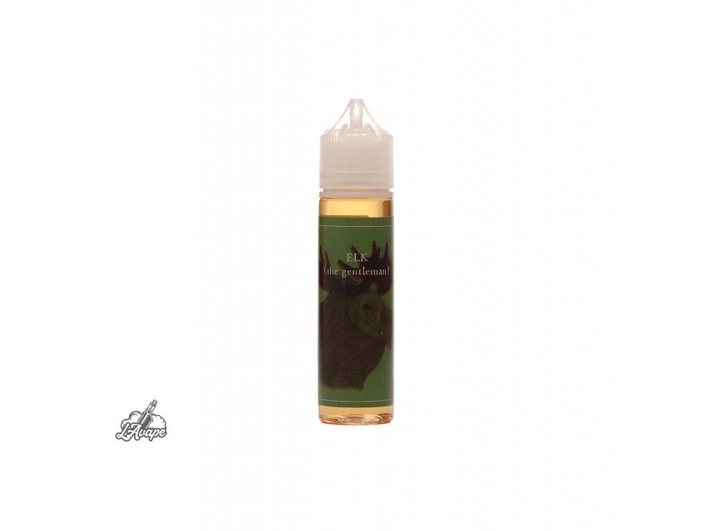 Příchuť 8 ml v 60 ml lahvičce - BaksLiquidLab Elk (Gentleman). Tabák, černý bez, jahoda. lavape.cz