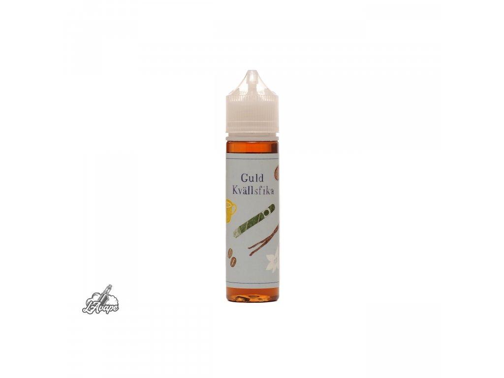 Příchuť 9,9 ml v 60 ml lahvičce - BaksLiquidLab Guld Kvällsfika. Tabák, káva, bourbon, karamel, vanilka a lískový oříšek. lavape.cz