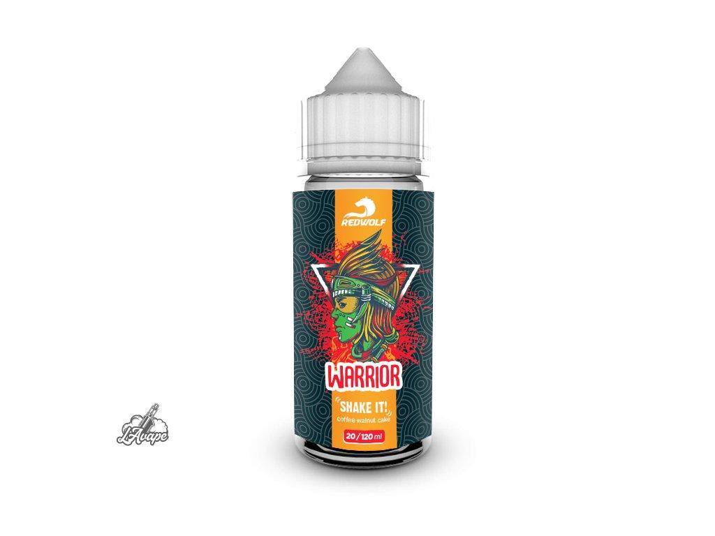 Příchuť 20 ml v 120 ml lahvičce - Red Wolf Warrior. Kávový dort s ořechy. lavape.cz
