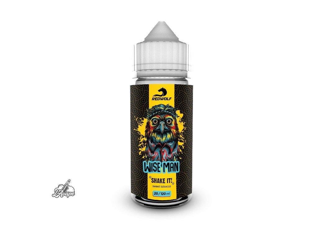 Příchuť 20 ml v 120 ml lahvičce - Red Wolf Wiseman. Jemný tabák. lavape.cz