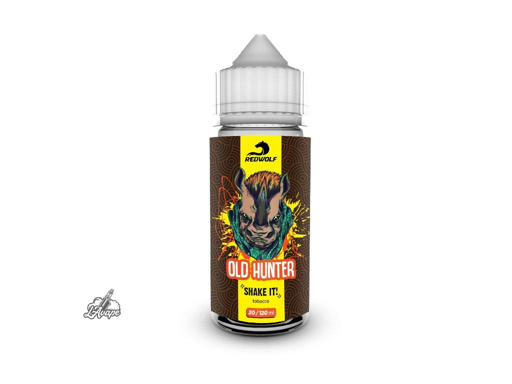 Příchuť 20 ml v 120 ml lahvičce -Red Wolf Old Hunter. Klasický tabák. lavape.cz