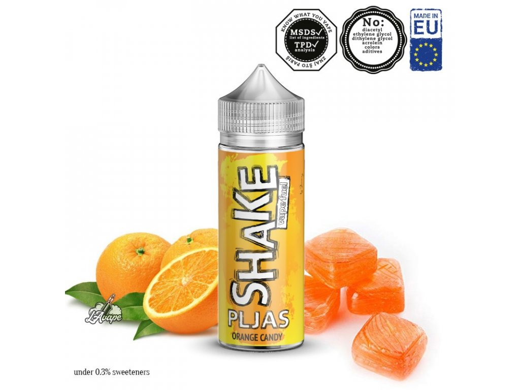 Příchuť 24ml v 120ml lahvičce - AEON SHAKE Pljas. Pomerančkový bonbón. LAVAPE.CZ