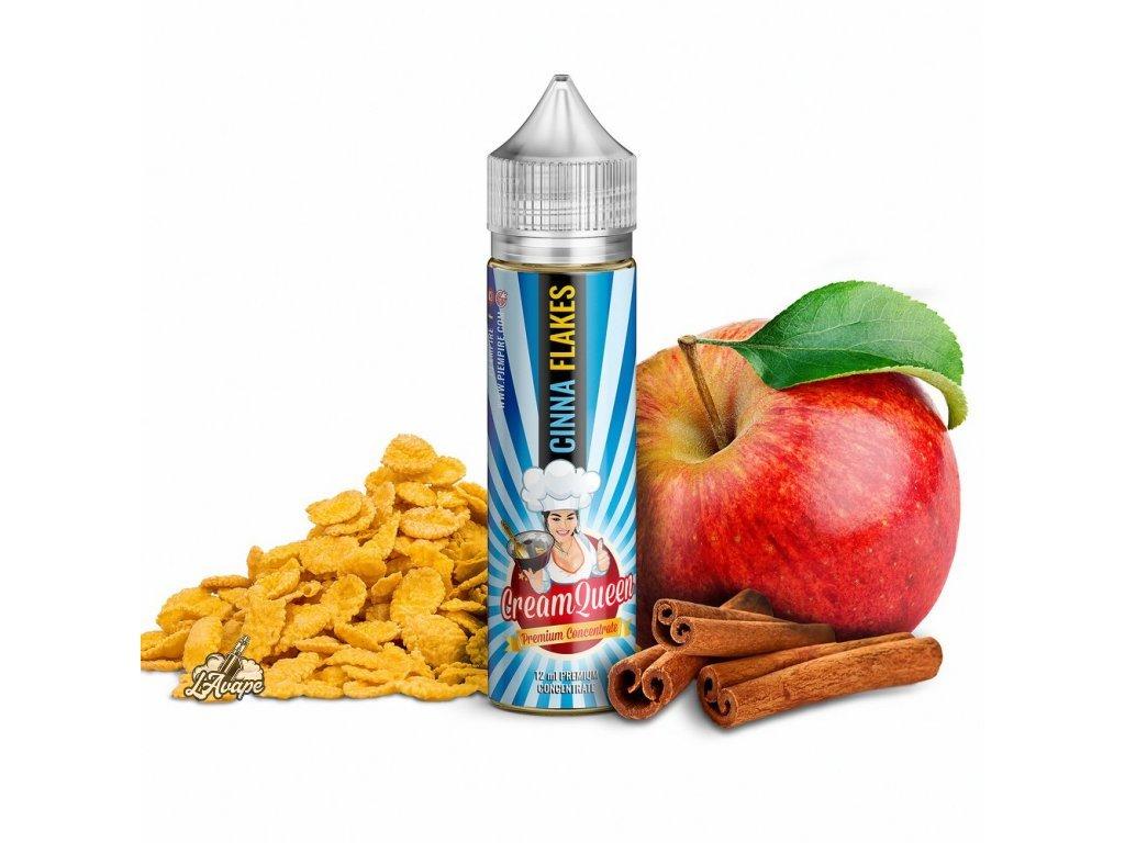 PJ EMPIRE CREAM QUEEN Cinna Flakes SnV 10 ml v 60 ml lahvičce - cereálie, skořice - LAVAPE.CZ